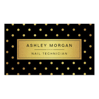 Técnico do prego - pontos pretos do ouro branco cartão de visita