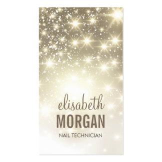 Técnico do prego - Sparkles brilhantes do ouro Modelo Cartão De Visita
