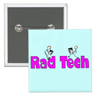 """Técnico do """"presentes da radiologia da tecnologia  bóton quadrado 5.08cm"""