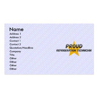 Técnico orgulhoso da refrigeração cartão de visita