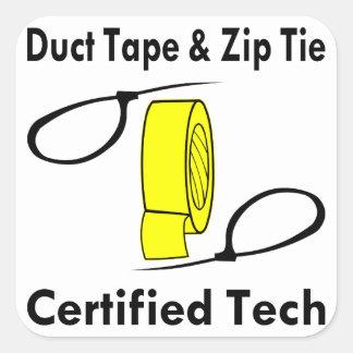 Tecnologia certificada laço da fita adesiva & do adesivo quadrado