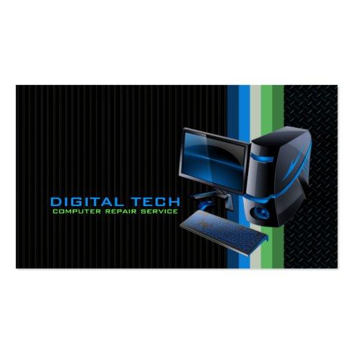Tecnologia de Digitas. Cartões de visitas do compu
