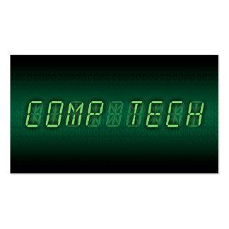 tecnologia do computador: readout digital cartões de visita