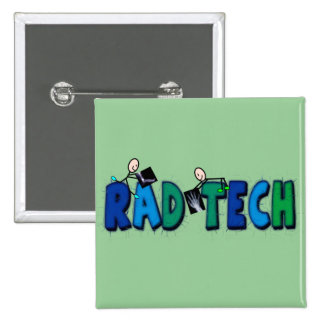 Tecnologia do Rad com design de pessoas e de raios Bóton Quadrado 5.08cm