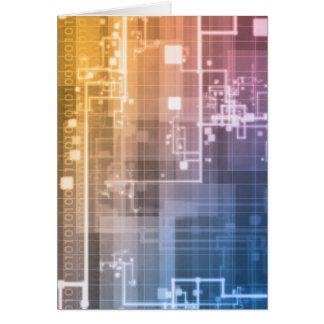 Tecnologia futurista como uma arte da próxima cartão