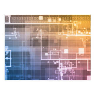 Tecnologia futurista como uma arte da próxima cartão postal