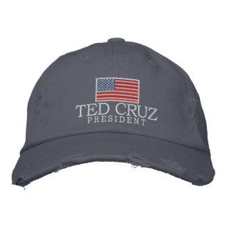 Ted Cruz para o presidente com bandeira americana Boné Bordado