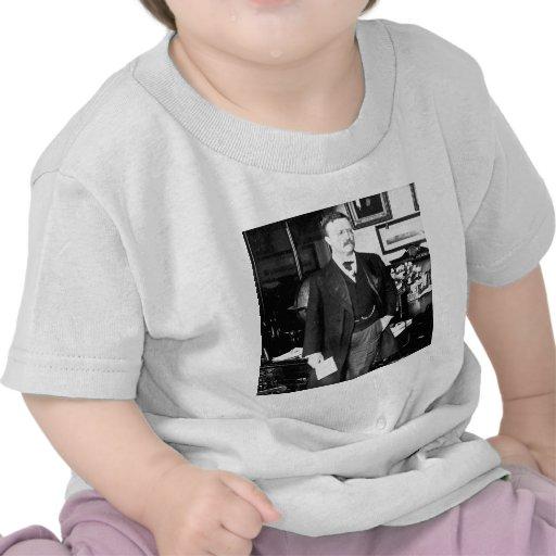 Teddy Roosevelt no vintage 1912 branco da casa Tshirt