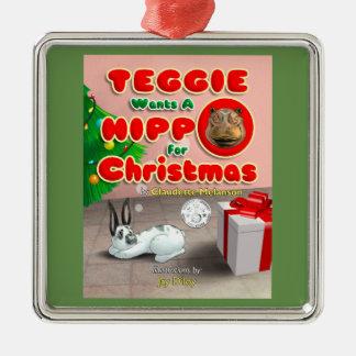 Teggie quer um hipopótamo para enfeites de natal
