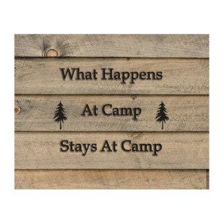 Tela De Madeira 10x8 o que acontece em estadas do acampamento no