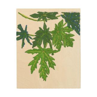 Tela De Madeira A papaia sae da arte da parede