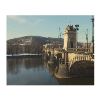 Tela De Madeira A ponte da legião, arte da madeira de Praga