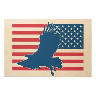 Tela De Madeira Águia dos EUA