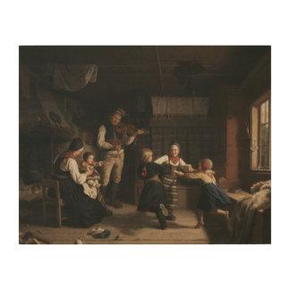 Tela De Madeira Amalia Lindegren - domingo à noite em uma casa da