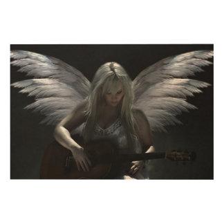 """Tela De Madeira Anjo caído """"guitarra escura """""""