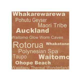 Tela De Madeira Arte da parede de Nova Zelândia