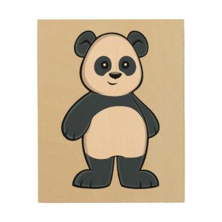 Tela De Madeira Arte de madeira da parede da panda bonito dos
