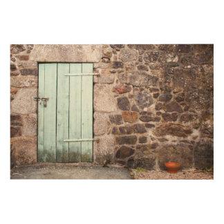 Tela De Madeira Arte de madeira da parede da porta estável e da