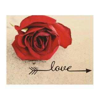 Tela De Madeira Arte de madeira da parede do amor cor-de-rosa