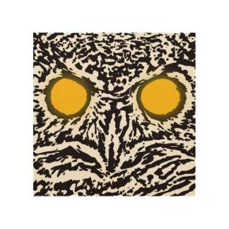 Tela De Madeira Arte de madeira da parede do olhar da coruja