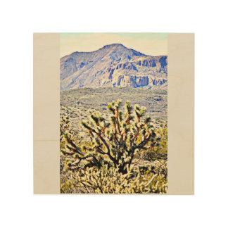 Tela De Madeira Arte de madeira da parede - montanha de Sonoran