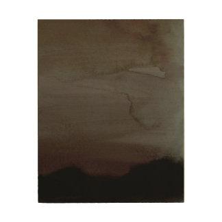 Tela De Madeira Arte enevoada da parede do abstrato da manhã