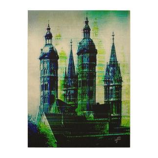 Tela De Madeira Arte gótico do pulso aleatório dos pináculos da