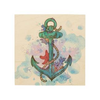 Tela De Madeira arte náutica da parede da decoração do partido da