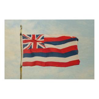 Tela De Madeira Bandeira do estado de Havaí