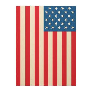 Tela De Madeira Bandeira dos Estados Unidos da bandeira dos EUA