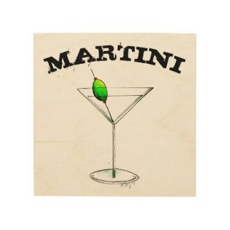 Tela De Madeira Bebida misturada da cozinha do bar do vidro de
