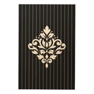 Tela De Madeira Branco do design do damasco do rolo em listras