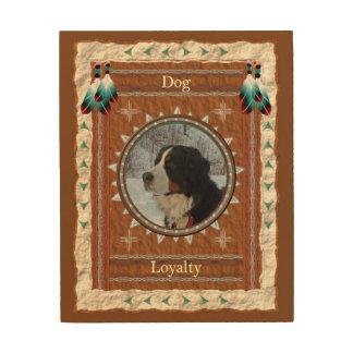 Tela De Madeira Cão - canvas da madeira da lealdade
