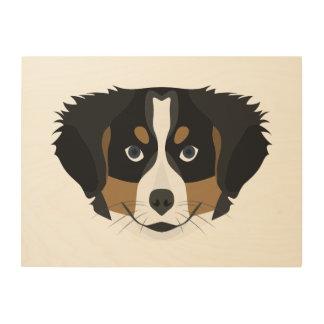 Tela De Madeira Cão de montanha de Bernese da ilustração