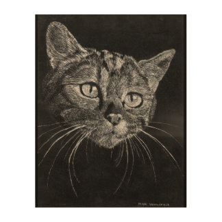Tela De Madeira Cara do gato! suspensão de madeira do painel de 11