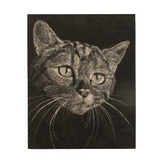 Tela De Madeira Cara do gato! suspensão de madeira do painel de 8