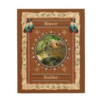 Tela De Madeira Castor - canvas da madeira do construtor
