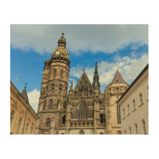 Tela De Madeira Catedral do St. Elisabeth em Kosice, Slovakia