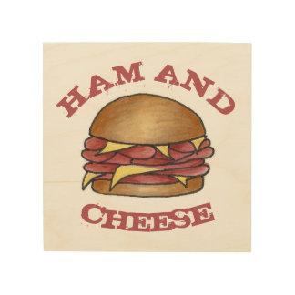 Tela De Madeira Comida de Foodie do sanduíche do almoço do