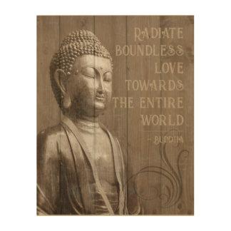 Tela De Madeira Compartilhe das citações de madeira budistas de