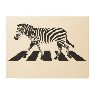 Tela De Madeira Cruzamento de zebra