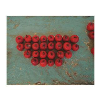 Tela De Madeira Das frutas belas artes vermelhas da vida ainda
