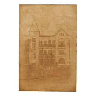 Tela De Madeira Desenho do vintage da construção