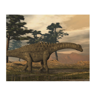 Tela De Madeira Dinossauro do Ampelosaurus