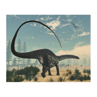 Tela De Madeira Dinossauro do Apatosaurus no deserto - 3D rendem