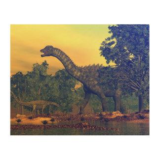 Tela De Madeira Dinossauros do Ampelosaurus