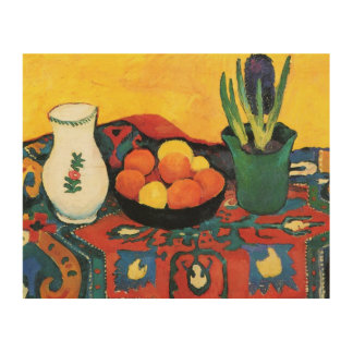 Tela De Madeira Do vintage tapete August Macke do jacinto da vida