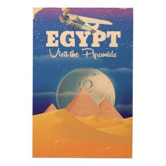 Tela De Madeira Egipto - visite o poster das viagens vintage das