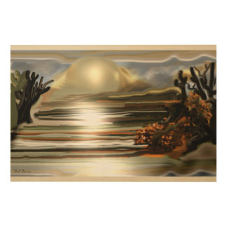 Tela De Madeira Elevação de Sun na arte abstracta do sudoeste do