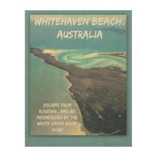 Tela De Madeira Entrada Austrália da praia de Whitehaven do